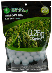 BB King 0.25g Biodegradable BBs 4000 Rounds, White