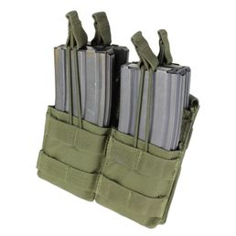 Condor Open-Top Double Magazine Pouch for Four M4/M16 Mags, OD