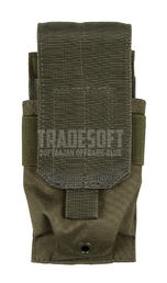 Mil-Tec Single Magazine Pouch for Two M4/M16 Mags, OD