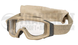 ESS Profile NVG Safety Goggles with Clear and Dark Lenses, Tan, Used