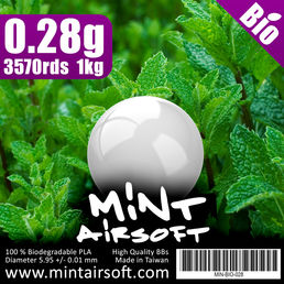 Mint Airsoft 0.28g Biodegradable BBs 3570 Rounds, White