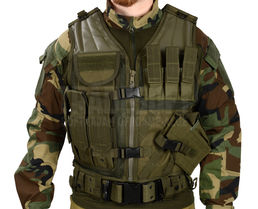 Mil-Tec Cross Draw Vest, OD