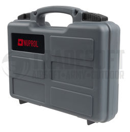 Nuprol Small Hard Gun Case for Pistol 6x19x29cm, Grey