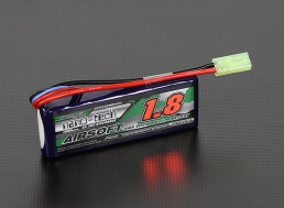 Turnigy Nano-tech 7.4V 1800mAh (25/50C) LiPo Mini Type Battery, Tamiya Mini Connector